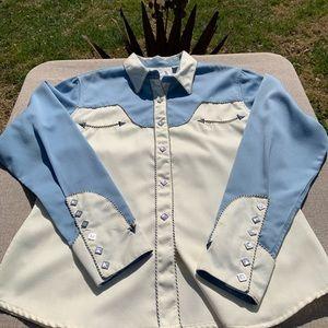 Panhandle Slim women's rodeo/horse show shirt.